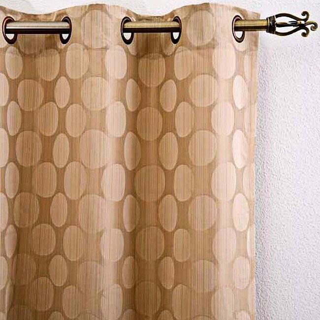 Lambrequin Retro Polka Grommet 84-inch Panel