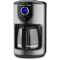 KitchenAid KCM111OB Onyx Black 12-Cup Programmable Coffee Maker with Glass Carafe