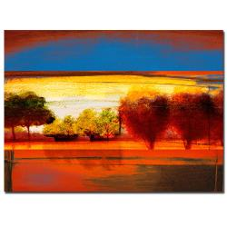 Miguel Paredes 'Red Dawn II' Canvas Art - Thumbnail 2