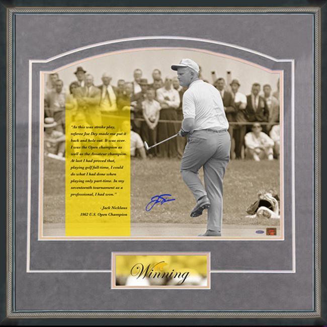 Steiner Sports Jack Nicklaus 'Winning' Grey Framed 16x20 Photo
