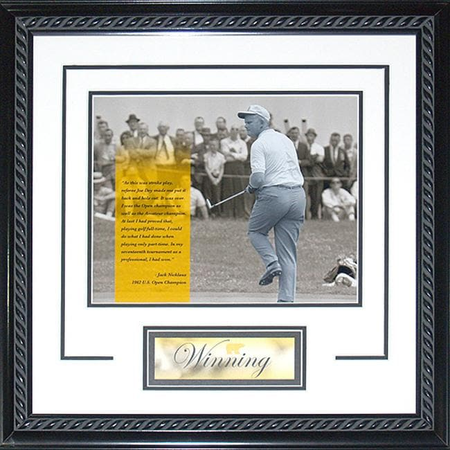 Steiner Sports Jack Nicklaus 'Winning' White Framed 16x20 Photo - Thumbnail 0