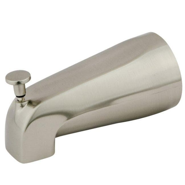 Satin Nickel Wall Spout with Diverter