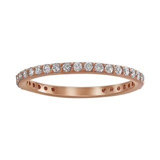 Beverly Hills Charm 14k Rose Gold 1/2ct TDW Diamond Eternity Stackable Wedding Band