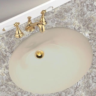 Highpoint Collection Porcelain Undermount Vanity Sink - Bisque