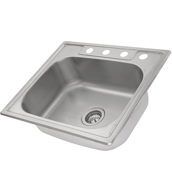 stainless steel 25inch selfrimming 4hole single bowl kitchen sink free shipping today