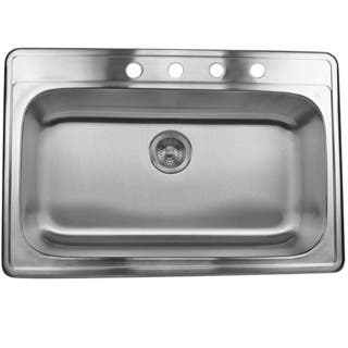 Single bowl drop in kitchen sinks for less overstock stainless steel 33 inch self rimming drop in single bowl kitchen sink workwithnaturefo