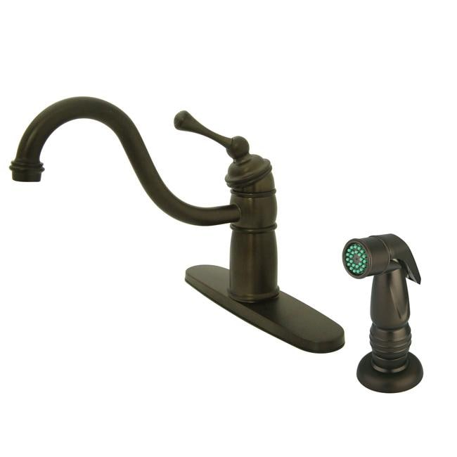 Shop Victorian Oil Rubbed Bronze Kitchen Faucet With Side Sprayer