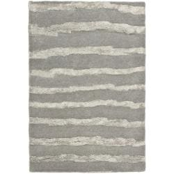 Safavieh Handmade Soho Stripes Grey New Zealand Wool Rug (2' x 3')