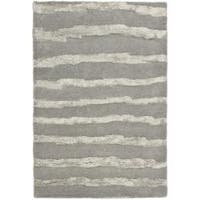 Safavieh Handmade Soho Stripes Grey New Zealand Wool Rug - 2' x 3'