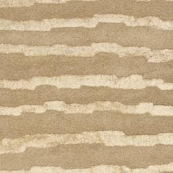 Safavieh Handmade Soho Stripes Beige/ Gold N. Z. Wool Runner (2'6 x 10') - Thumbnail 2