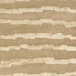 Safavieh Handmade Soho Stripes Beige/ Gold N. Z. Wool Runner (2'6 x 12')