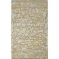 Safavieh Handmade Soho Taupe/ Light Blue Grey New Zealand Wool Rug - 5' x 8'