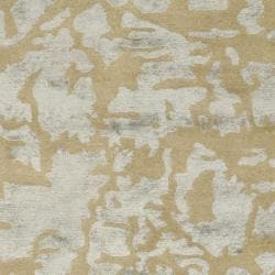 Safavieh Handmade Soho Taupe/ Light Blue Grey New Zealand Wool Rug (7'6 x 9'6) - Thumbnail 2