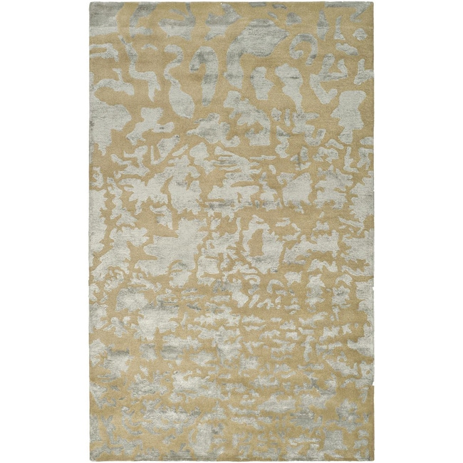 Safavieh Handmade Soho Taupe/ Light Blue Grey New Zealand Wool Rug (7'6 x 9'6)