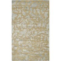 Safavieh Handmade Soho Taupe/ Light Blue Grey New Zealand Wool Rug - 7'6 x 9'6