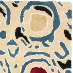 Safavieh Handmade Soho Modern Abstract Ivory/ Multi Wool Runner Rug (2' 6 x 8')