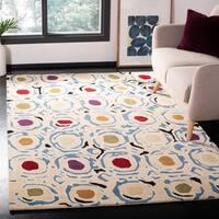 "Safavieh Handmade Soho Modern Abstract Ivory/ Multi Wool Rug - 3'6"" x 5'6"""