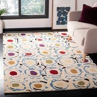 "Safavieh Handmade Soho Modern Abstract Ivory/ Multi Wool Rug - 7'-6"" x 9'-6"""