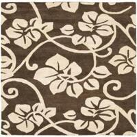 Safavieh Handmade Soho Brown/Ivory New Zealand Wool Area Rug - 6' x 6' Square