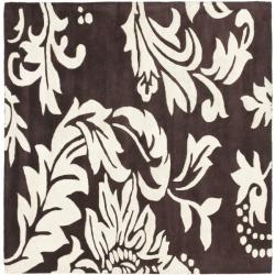 Safavieh Handmade Soho Brown/ Ivory New Zealand Wool Rug (6' Square)