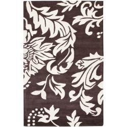 Safavieh Handmade Soho Brown/ Ivory New Zealand Wool Rug - 7'6 x 9'6 - Thumbnail 0