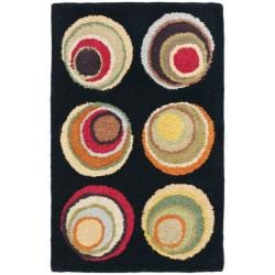 Safavieh Handmade Soho Candies Black/ Multi New Zealand Wool Rug (2' x 3')