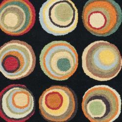 Safavieh Handmade Soho Modern Abstract Black/ Multi Wool Rug (7' 6 x 9' 6) - Thumbnail 2