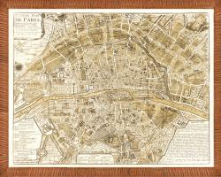 'Map of Paris' Framed Print
