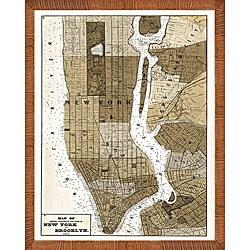 'Map of Manhattan' Framed Print