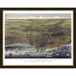 'Chicago Cityscape' Framed Print