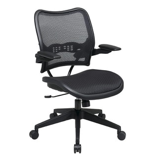 Office Star Deluxe AirGrid Seat and Back Cantilever Arms Office Chair