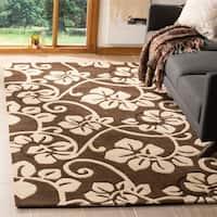 Safavieh Handmade Soho Brown/ Ivory New Zealand Wool Rug - 5' x 8'