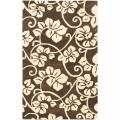 Safavieh Handmade Soho Brown/Ivory Floral New Zealand Wool Area Rug - 7'6 x 9'6