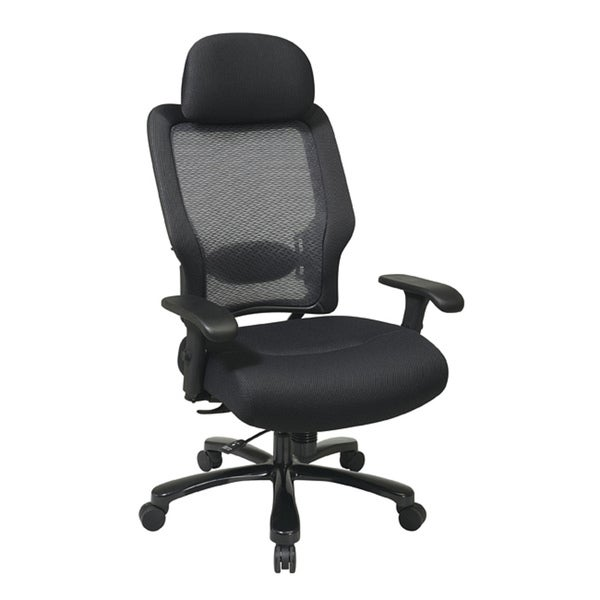 Office Star Professional Air Grid Deluxe Task Chair office star airgrid back and mesh seat big and tall chair - free
