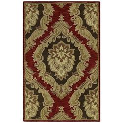 Handmade Khazana Red Castillian Salsa Wool Rug (7.6' x 9')