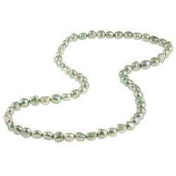 DaVonna Light Green Baroque FW Pearl 28-inch Endless Necklace (9-10 mm)|https://ak1.ostkcdn.com/images/products/5764891/DaVonna-Light-Green-Baroque-FW-Pearl-28-inch-Endless-Necklace-9-10-mm-P13492618.jpg?impolicy=medium