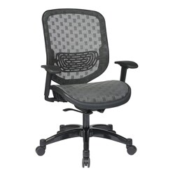 Office Star Charcoal DuraFlex with Flow-thru Technology Back and Seat Chair
