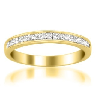 Montebello 14k Yellow Gold 1/2ct TDW Certified Diamond Wedding Band