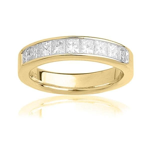 Montebello 14k Yellow Gold 1ct TDW Certified Diamond Wedding Band (G-H, SI3-I1)
