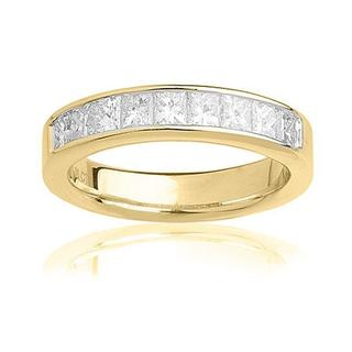 Montebello 14KT Yellow Gold 1ct TDW Certified Diamond Wedding Band