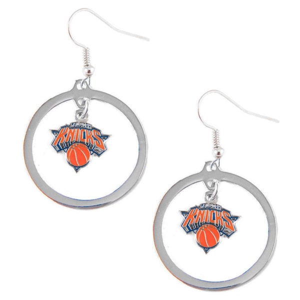 New York Knicks Hoop Earrings