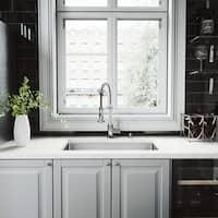 VIGO Mercer Stainless Steel Kitchen Sink Set with Edison Faucet