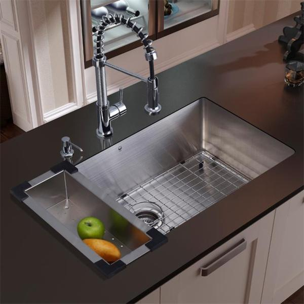 kitchen sink and faucet combinations vigo stainless steel undermount kitchen sink and faucet 8430