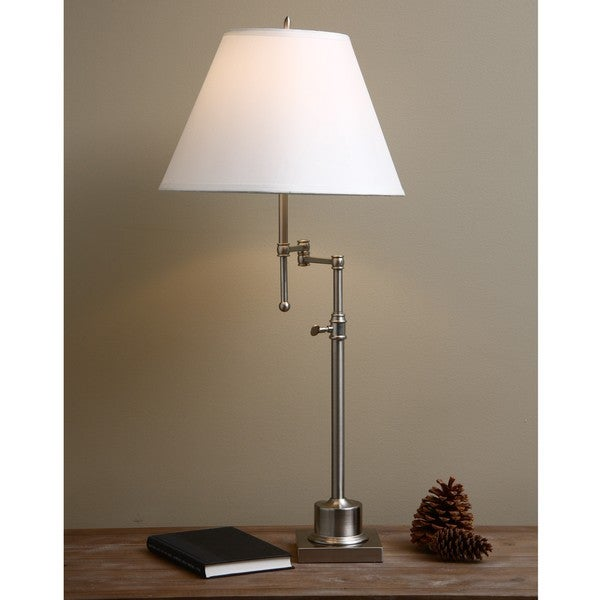 brushed nickel swing arm table lamp free shipping today overstock. Black Bedroom Furniture Sets. Home Design Ideas