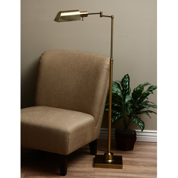 Brass Library Task Floor Lamp Free Shipping Today