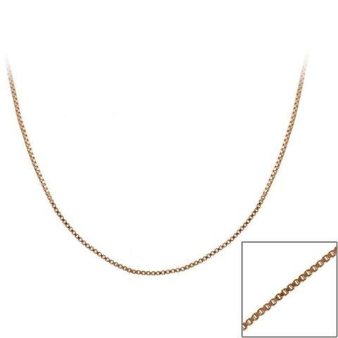 Mondevio Rose Gold over Sterling Silver 24-inch Italian Box Chain