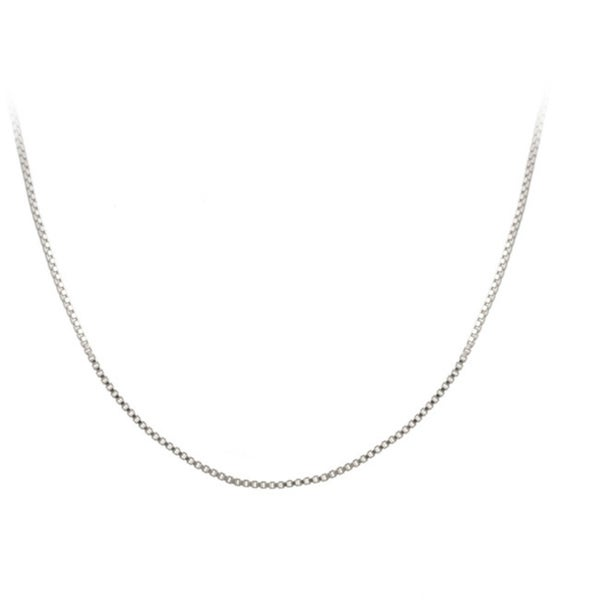 Mondevio Sterling Silver 24-inch Italian Box Chain Necklace
