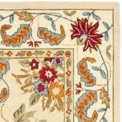 Safavieh Handmade Paradise Ivory Wool Rug (6' Square) - Thumbnail 1