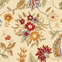 Safavieh Handmade Paradise Ivory Wool Rug (6' Square) - Thumbnail 2