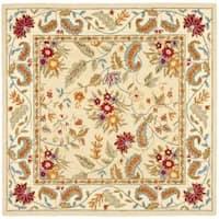 Safavieh Handmade Paradise Ivory Wool Rug - 6' x 6' Square